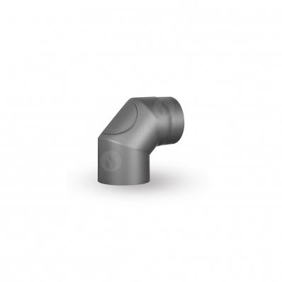ELBOW THREE-PIECE WITH CLEANING HOLE 150/90/2 mm