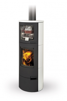 LUGO 01 ceramic - fireplace stove with oven