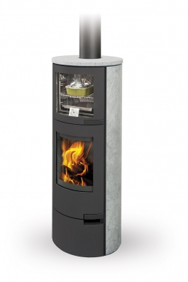 LUGO 02 stone - fireplace stove with oven