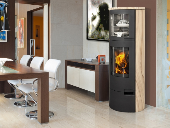 LUGO 04 sandstone - fireplace stove with oven