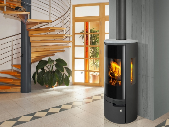 BELO 3S 02 steel + serpentine - fireplace stove