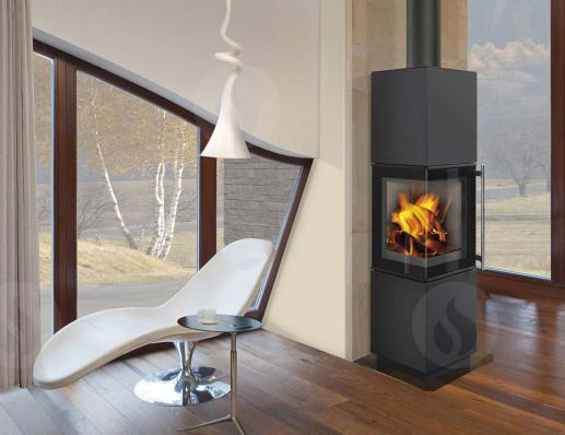 ESQUINA steel - accumulation fireplace stove