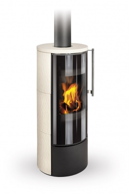 IRUN 01 ceramic with relief structure - fireplace stove