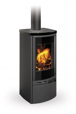 MERU N 04 steel + ceramic - fireplace stove