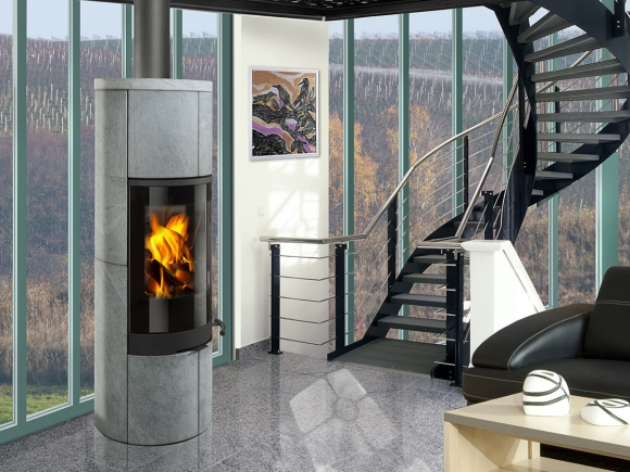 SORIA 02 serpentine - accumulation fireplace stove