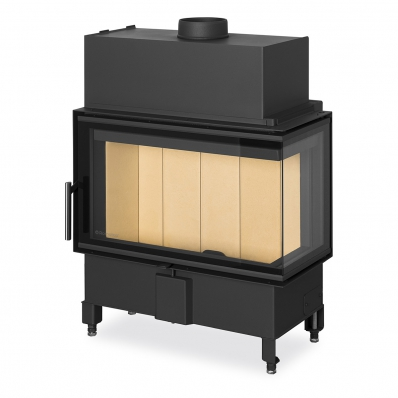 HEAT R/L 2g S 70.44.33.13(23) - corner fireplace insert with bent (split) glazing