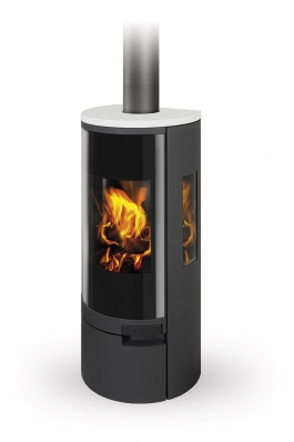 BELO 3S 01 steel + ceramic - fireplace stove