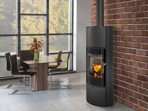 LAREDO 03 AKUM steel - accumulation fireplace stove