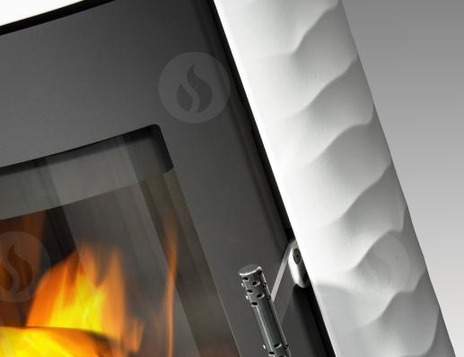 OVALIS 01 ceramic with relief structure - fireplace stove