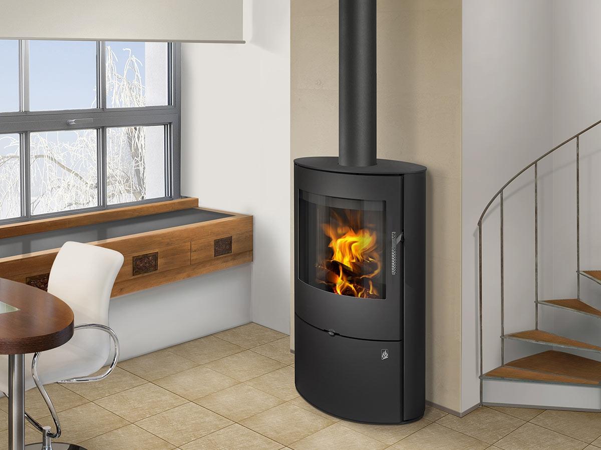 Ovalis 03 Sheet Metal Fireplace Stove