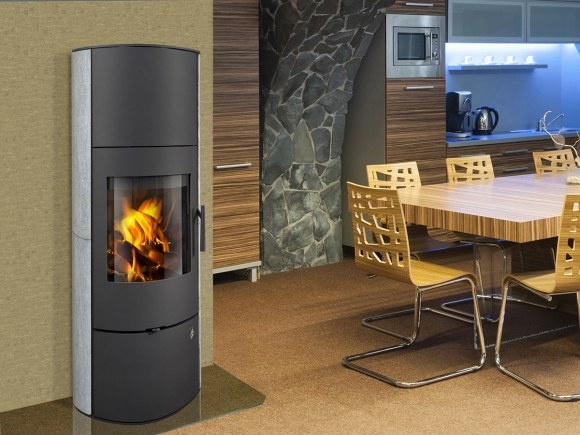 EVORA 02 AKUM serpentine - accumulation fireplace stove