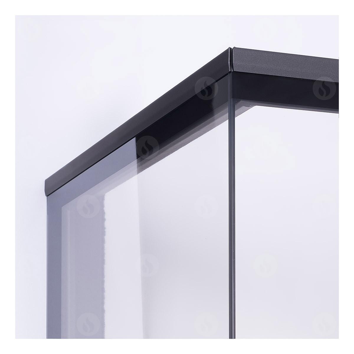 HEAT R/L 3g L 81.51.40.01(21) - hot-air corner fireplace insert with lifting door and bent (split) glazing