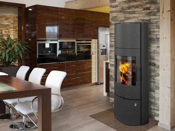 EVORA 03 AKUM steel - accumulation fireplace stove