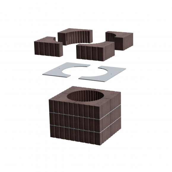 TOP ROMOTOP MAMMOTH ACCUMULATION SET for fireplace inserts with a flue exhaust of 200 mm