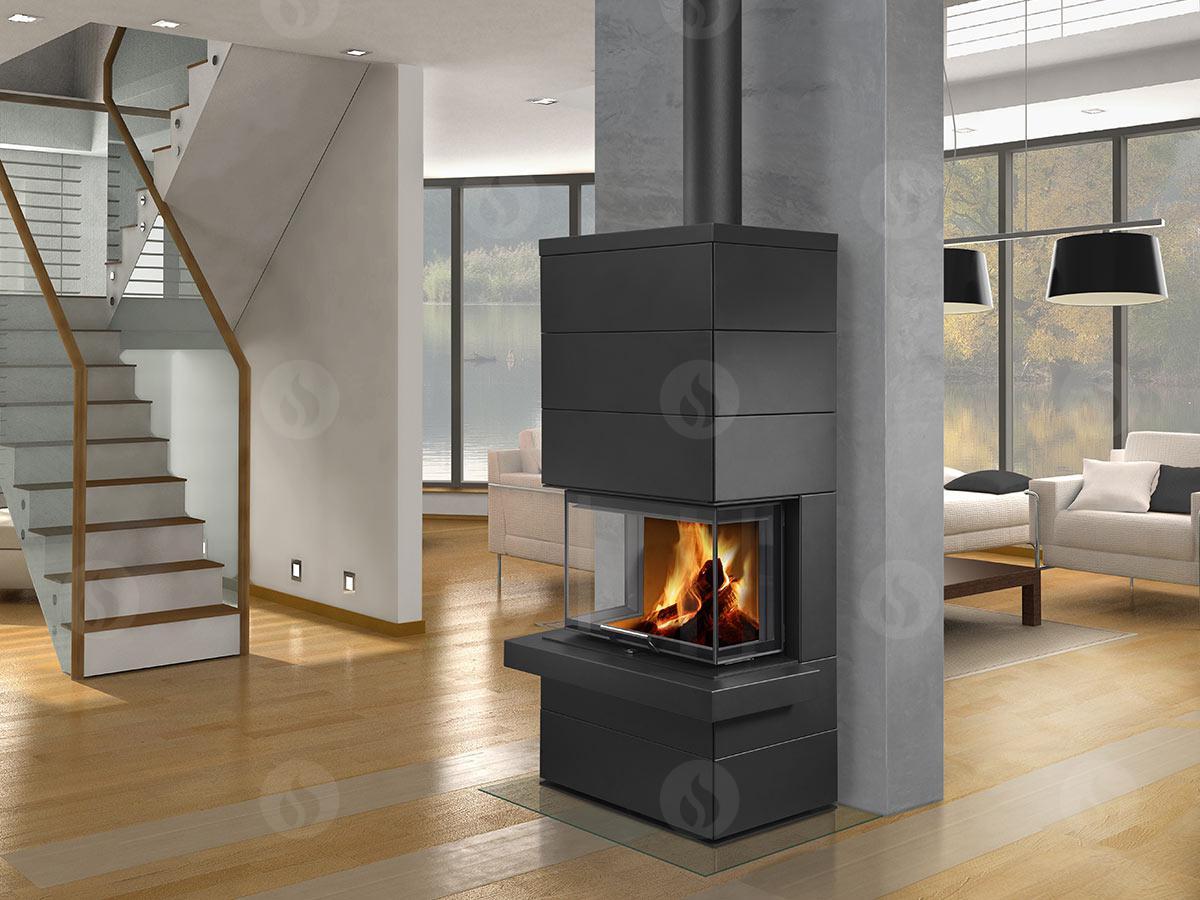 romotop cara c 03 steel design accumulation fireplace. Black Bedroom Furniture Sets. Home Design Ideas