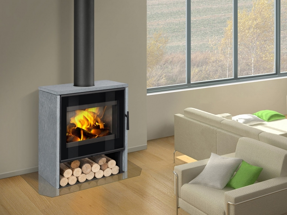 ALEDO 02 serpentine - fireplace stove