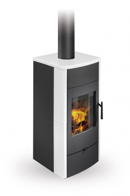 ESPERA 01 ceramic - fireplace stove with water exchanger and double glazing