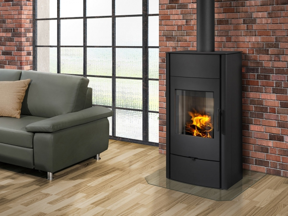 ESPERA 03 steel - fireplace stove with water exchanger and double glazing