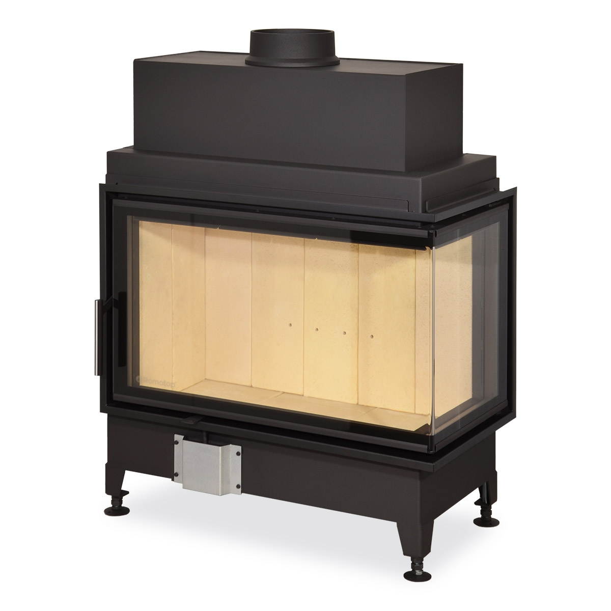 HEAT R/L 2g S 81.51.40.01 - hot-air corner fireplace insert with bent glazing