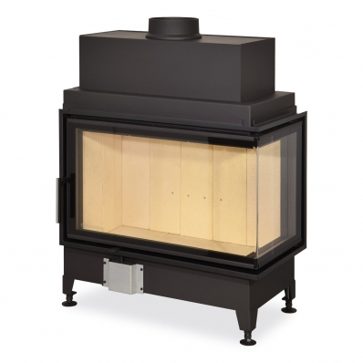 HEAT R/L 2g S 81.51.40.01(21) - hot-air corner fireplace insert with bent (split) glazing